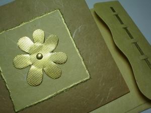 Brass flower card