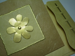 Brass flower card