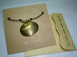 necklace greeting card