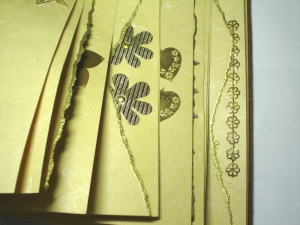 Scrapbook pages in brass