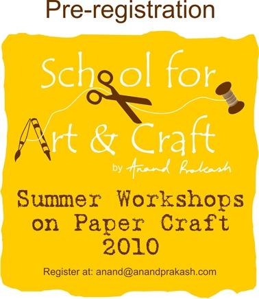 summer workshops on papercraft