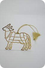 Cow Brass Metal Bookmark