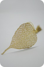 Pipal Leaf Brass Metal Bookmark2