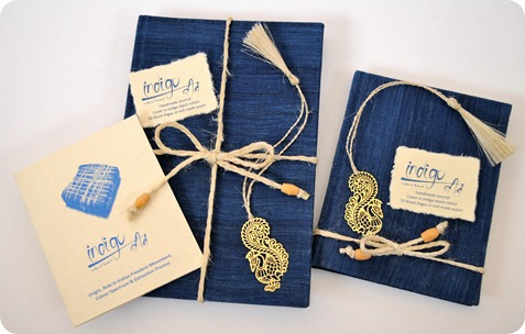 Handmade Journals in Indigo Dyed Cotton