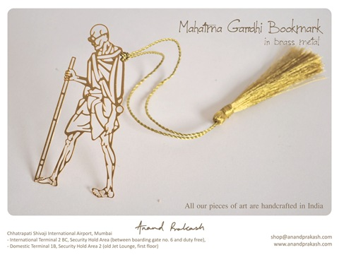 Mahatma Gandhi Bookmark Jpeg