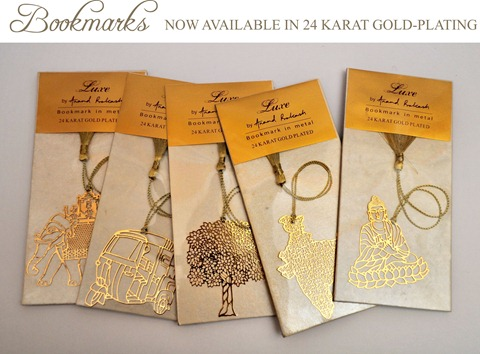 24 Karat Gold Plated Bookmarks
