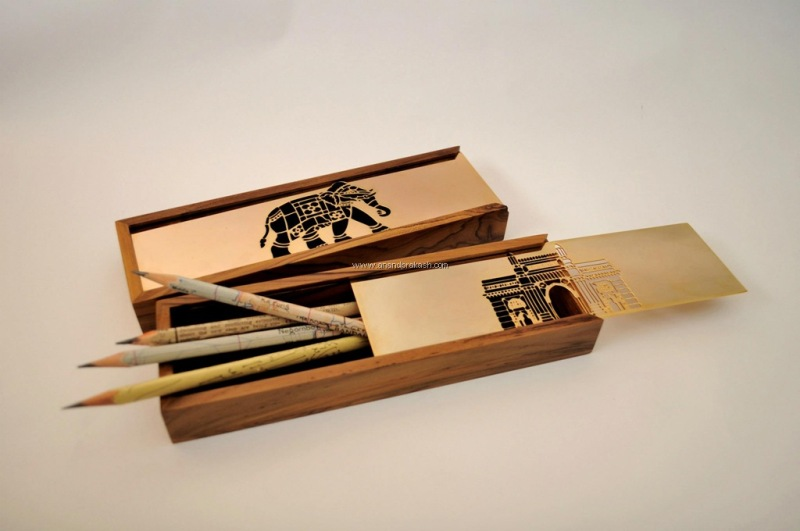 wood pencil box plan