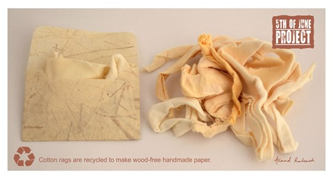 Recycled wood free paper