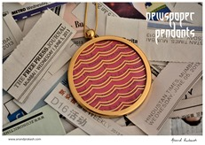 5th of June Newspaper colour pendants4