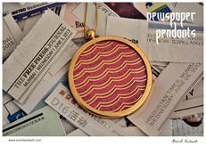 5th of June Newspaper colour pendants4