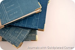 Old blueprint covered journal by Anand Prakash