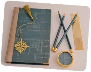 Stationery from old blueprints