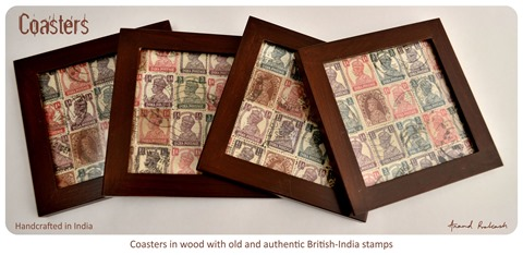 British India stamp coasters