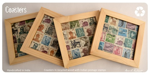 New India Stamp Coasters