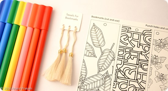 My colouring book bookmarks