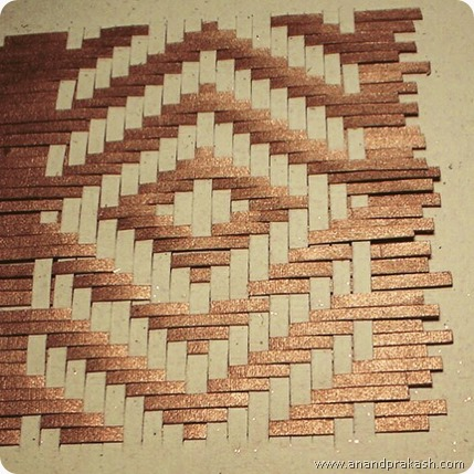Paper weaving by Anand Prakash