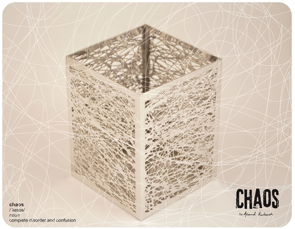 Chaos Pen Holder Rhodium Plated